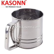 Stainless Steel 5 Cup Manual Kitchen Flour Sifter